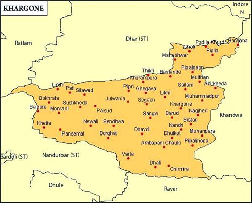 Geography of Khargone