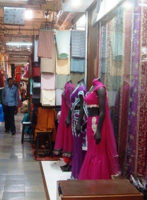 Indoor shops at Famous Gandhi market
