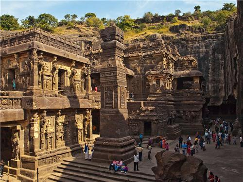 Ajanta and Ellora caves near Mumbai