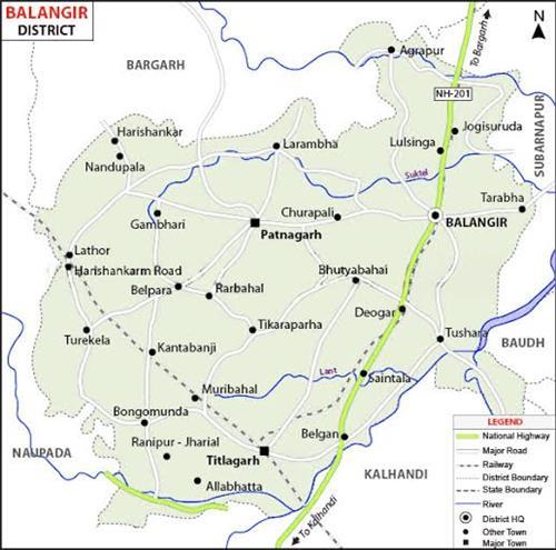 Geography of Balangir