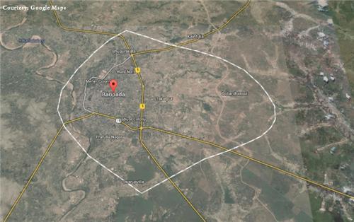 Map of Baripada