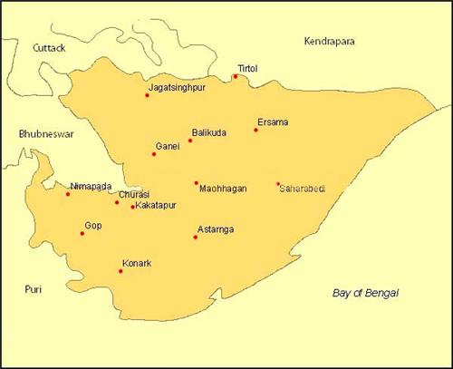 Geography of Jagatsinghpur