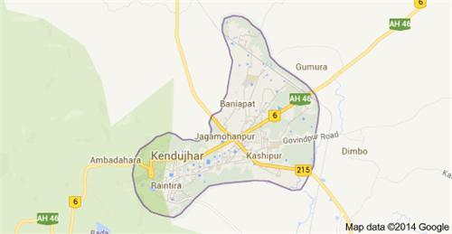 Kendujhar Geography