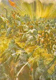 Battle between great Maratha warriors and Afghans