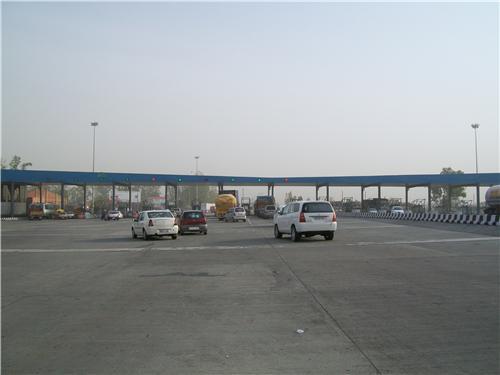 Toll Plaza at expressway in Panipat
