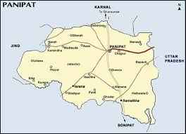 Geographical situation of Panipat