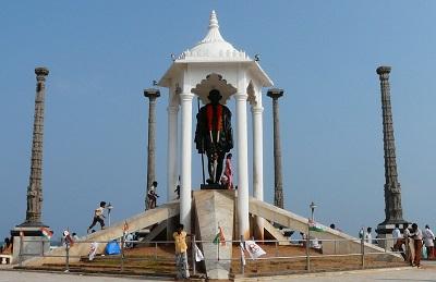 Gandhi Statue at Pondy Beach