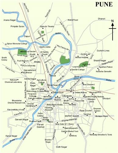 Balaji Mandir in Pune Map