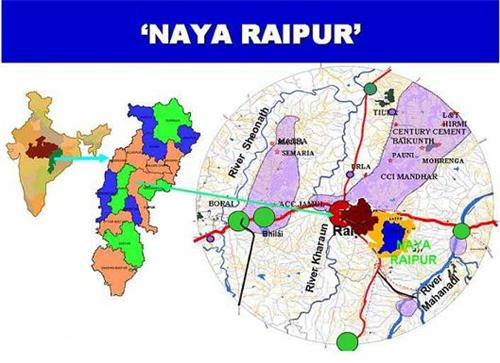 Localities in Raipur