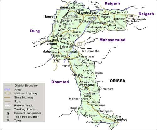 Geography of Raipur