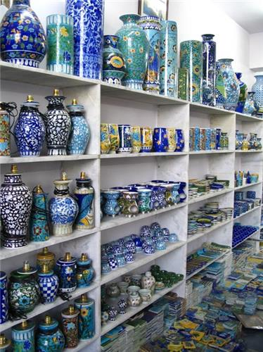 Amazing blue pottery from rajasthan