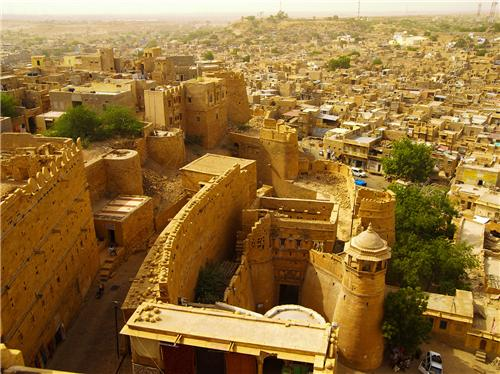 Aerial View of Jaisalmer Fort