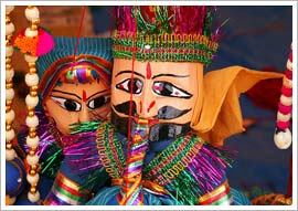 Puppets from the state of rajasthan