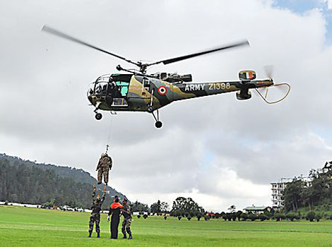 Activities at Annadale Ground by the Indian Army