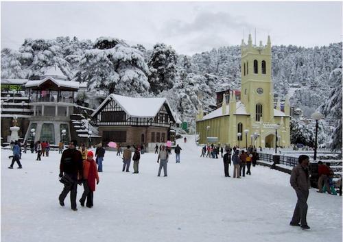 Christ Church after snowfall