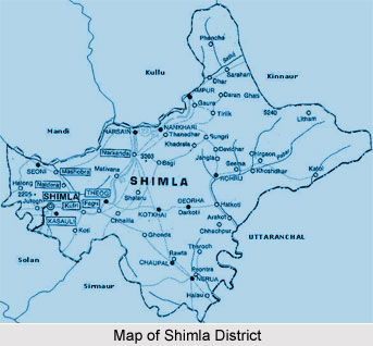 Map of Shimla
