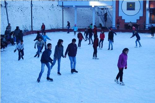 At the Shimla Ice Skating Club