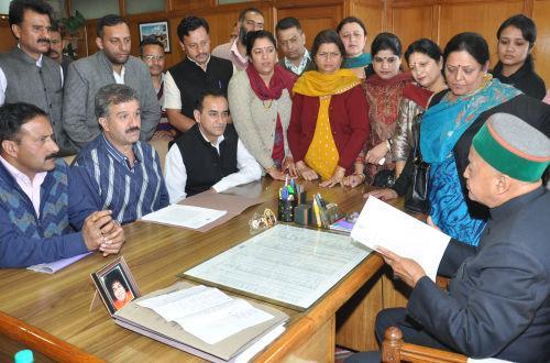 Meeting at Municipal Corporation, Shimla