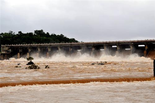 Gajanur dam in Shimoga