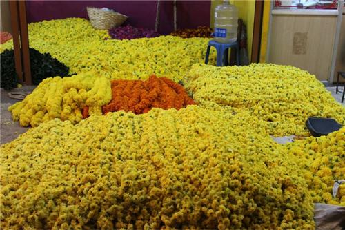 Flower market in Shimoga