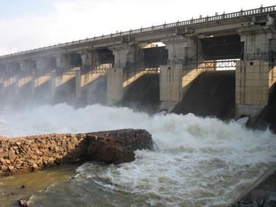 Tunga Anicut Dam in Shimoga