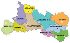 Adilabad District Map