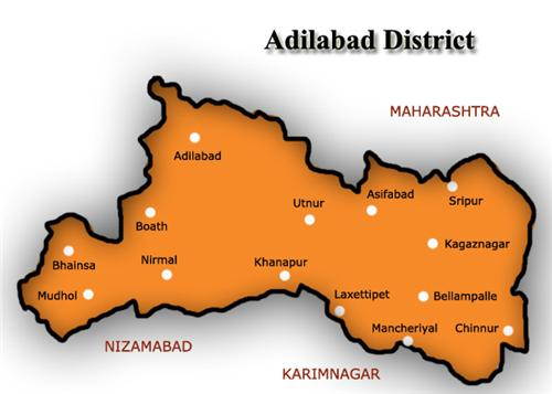 Map of Adilabad District