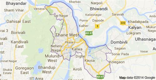 Map of Thane