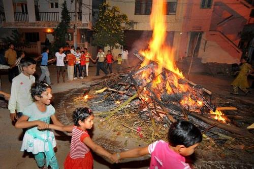 Bhogi Pandigai Celebrations in Tamil Nadu