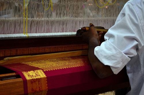 silk saree weaving Tamil nadu