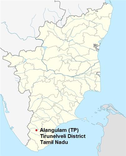 Alangulam in TN Map