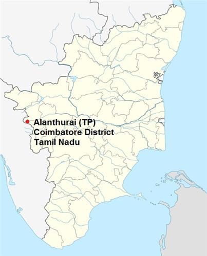 Alanthurai in TN Map