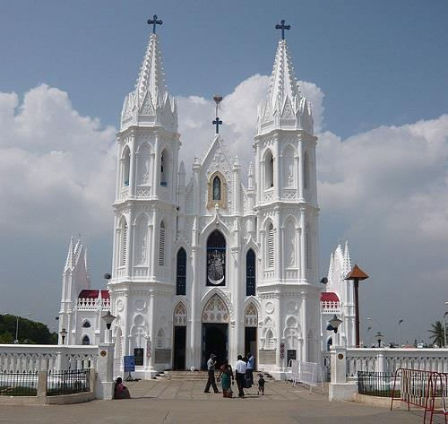 Velankanni Church Front View