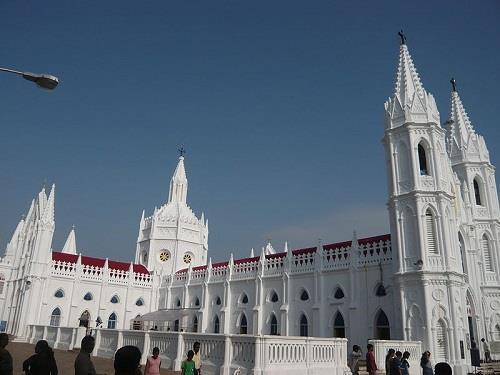 Side View of Velankanni Church