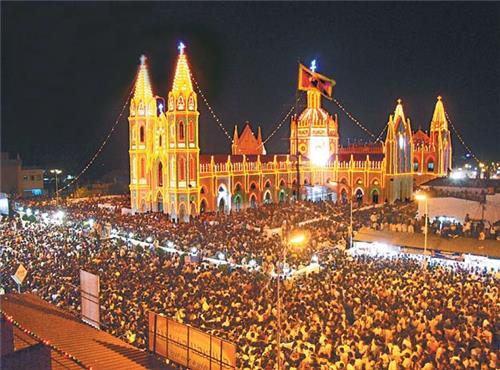 Velankanni Basilica of Our Lady of Good Health, Velankanni ...