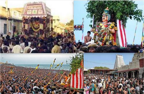 Festivals celebrated in Thiruchendur Murugan Temple