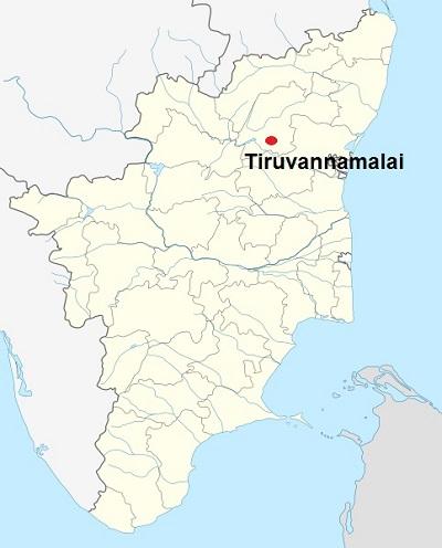 Tiruvannamalai in TN Map