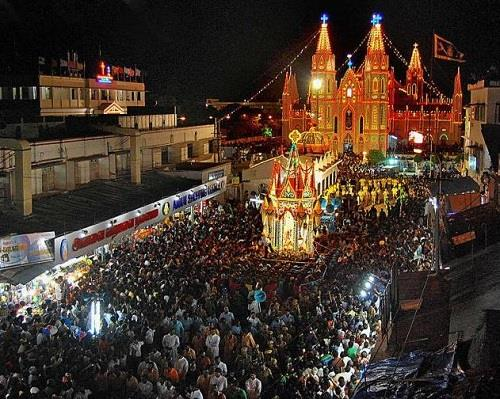 Velankanni Church during Festival