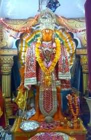Deity of Sankat Mochan Hanuman at the Temple