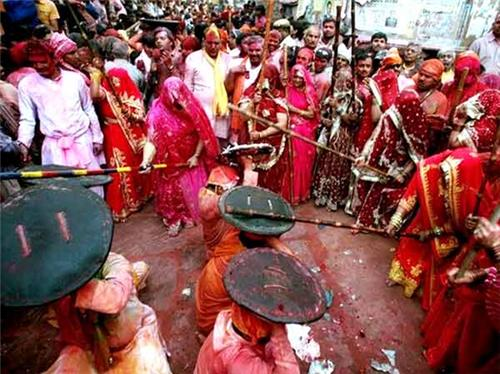Lath Mar Holi in Mathura