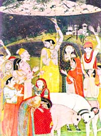 Painting by Mola Ram