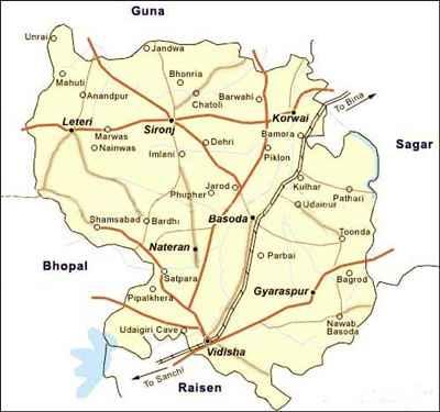 Geography of Vidisha