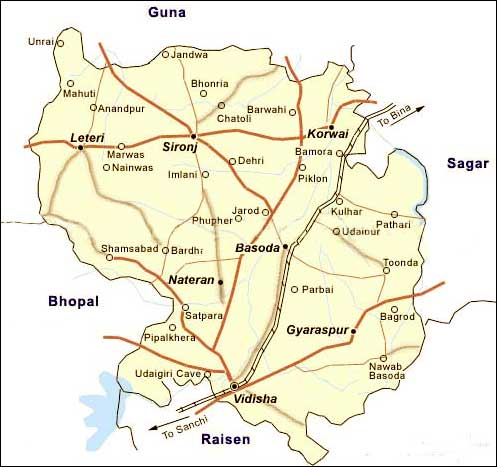 Geography of Vidisha