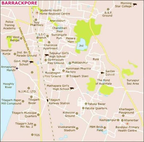 Geography of Barrackpore