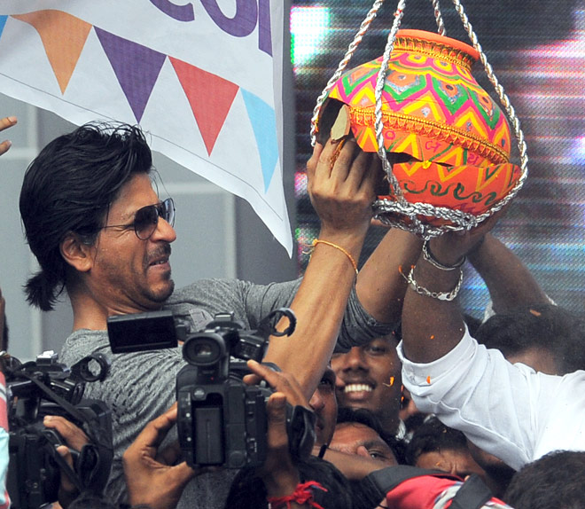Bollywood stars during Dahi Handi