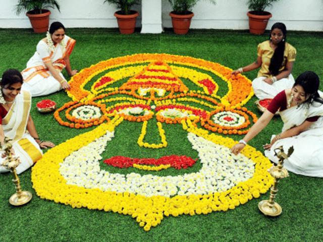 Pookkalam in Kerala