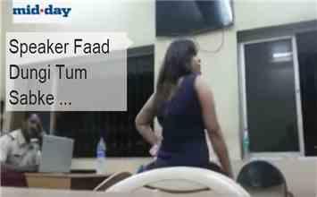 You Must Watch This Drunken Woman Creating Ruckus Inside Mumbai Police Station!