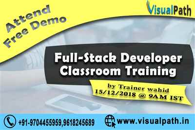 Full Stack Developer Online Training Full Stack Training Visualpath