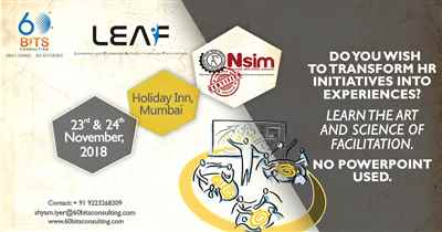 Upcoming LEAF Facilitator Workshop on 23rd 24th November 2018