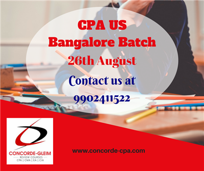 Upcoming CPA US Bangalore Batch starts on 26th August 2018